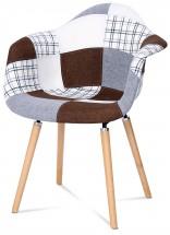 Color - Jídelní židle s područkami CT-726 (patchwork/masiv buk)