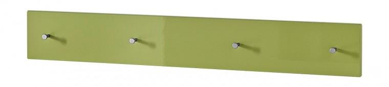 Colorado - Nástěnný věšák, 4x háček (zelená)