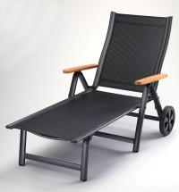 Comfort - Polohovací lehátko (antracit, černá)