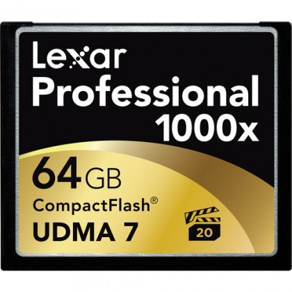 Compact flash Lexar 64GB CF 1000x Professional