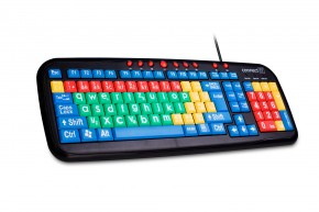 CONNECT IT Kontrastní barevná klávesnice pro děti, USB CI-72