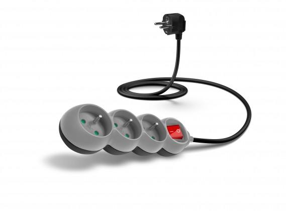 Connect IT prodlužovací kabel 1,5m 3 zásuvky vypínač