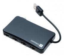 Connect IT USB 2.0 hub se 4 oboustrannými porty reverse
