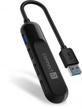 Connect IT USB-A hub USB 3.0, externí, černý