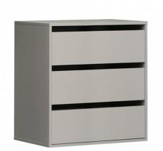 Corsica - Zásuvkový blok, 3x zásuvka do skříně (šedá)