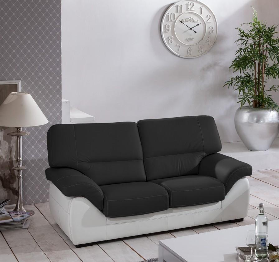 Cortina-dvojsedák (black-hl. látka/white madras leather-korpus)