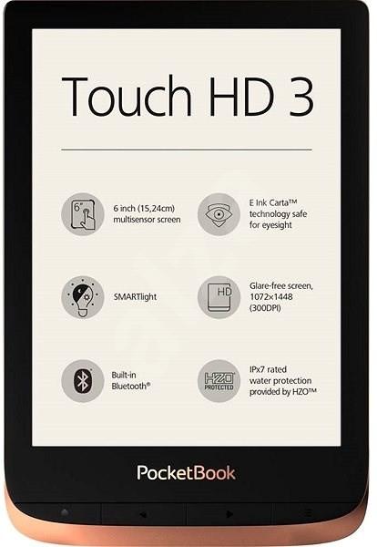 Čtečka elektronických knih E-book POCKETBOOK 632 Touch HD 3, Spicy Copper, 16GB