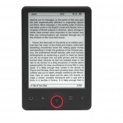 Čtečky knih Denver čtečka e-knih 6'', podscvícená, úložiště 4 GB, černá
