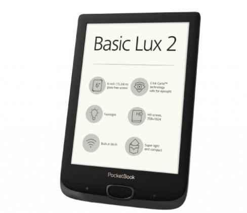 Čtečky knih E-book POCKETBOOK 616 Basic Lux 2, Obsidian Black