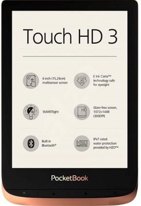 Čtečky knih E-book POCKETBOOK 632 Touch HD 3, Spicy Copper, 16GB POUŽITÉ, NEO