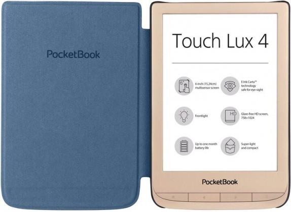 Čtečky knih POCKETBOOK 627 Touch Lux 4, dárková sada s obalem, zlatá
