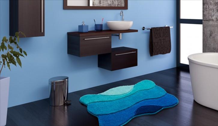 Curts - Koupelnová předložka 60x100 cm (modrá)