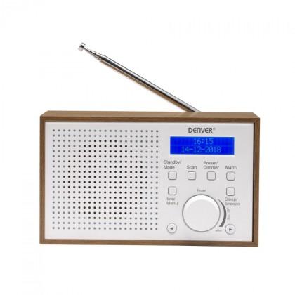 DAB rádia DAB+ rádio Denver DAB-46, bílé