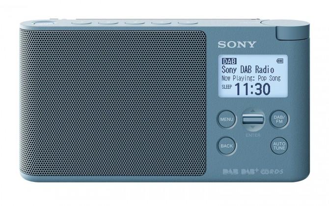 DAB rádia DAB+ rádio Sony XDRS-41DL, modré