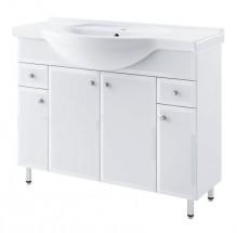 Dallas - Skříňka s umyvadlem 105cm (bílá)