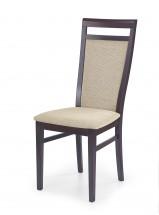 Damian - Jídelní židle (béžová, ořech)