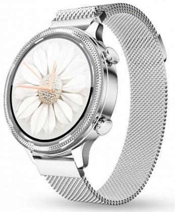 Dámské chytré hodinky Aligator Watch Lady, 2x řemínek, stříbrná