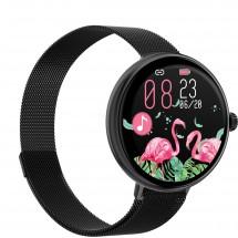 Dámské chytré hodinky Immax Lady Music Fit, černá
