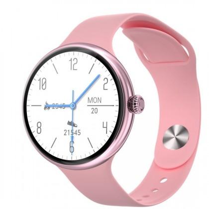 Dámské chytré hodinky Immax Lady Music Fit, růžová