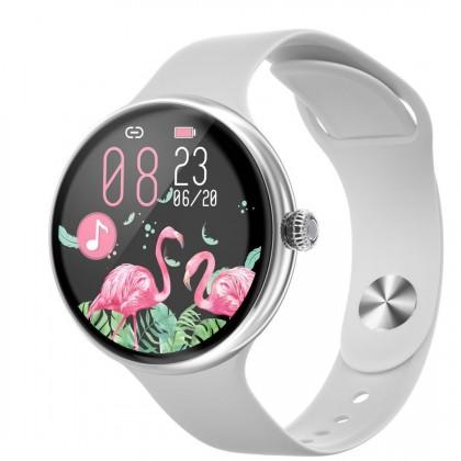 Dámské chytré hodinky Immax Lady Music Fit, stříbrná POUŽITÉ, NEO