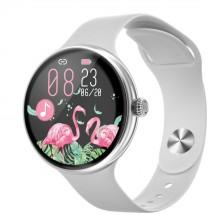 Dámské chytré hodinky Immax Lady Music Fit, stříbrná