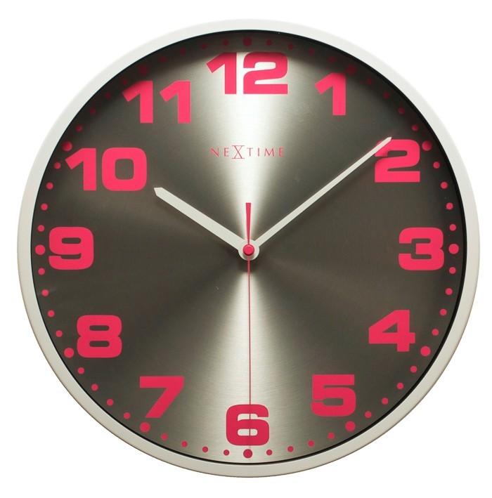 Dash - hodiny, nástěnné, kulaté, (kov, sklo, barevné)