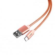 Datový kabel Type C 1M, růžový