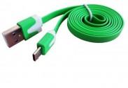 Datový kabel USB na Micro USB, zelená