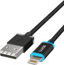 Datový LED light kabel Lightning  1M nylon black magnet box