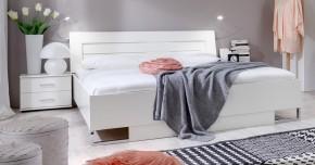 Davos - Komplet 4, postel 160 cm (alpská bílá)