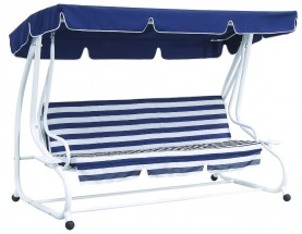 De Luxe - Houpačka (modro, bílá)