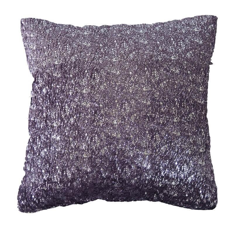 Dekorační polštáře Polštář DP135 (45x45 cm, fialová, stříbrná)