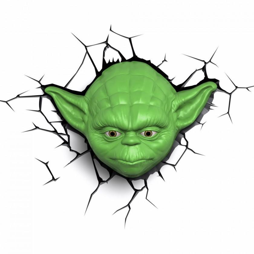 Dekorativní osvětlení 3D LIGHT FX světlo EP7 - Star Wars Yodova hlava