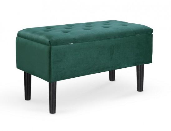 Designové taburety Taburet Dour obdélník zelená ÚP (látka)