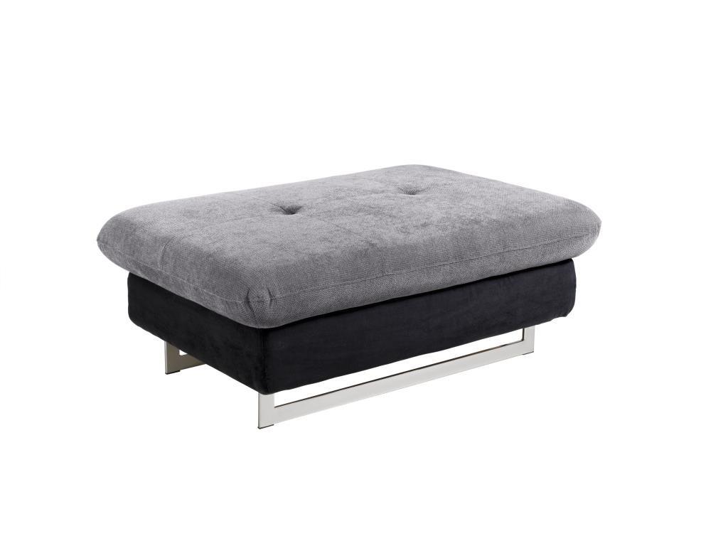 Designové taburety Taburet Jersey obdélník černá, šedá ÚP