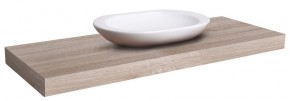 Deska pod umyvadlo DU02 (80x8x50 cm, dub bardolino)