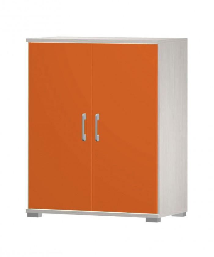Dětská komoda Happy - typ04 + typ51 (woodline creme/tmavě oranžová)