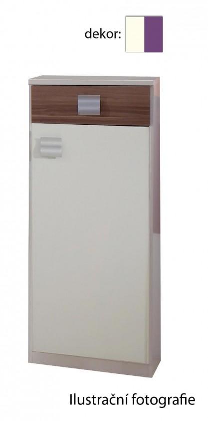Dětská komoda Jette - 366404 (alpská bílá / ostružina)