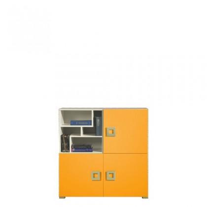Dětská komoda LABYRINT LA 8 (krémová/oranžová)