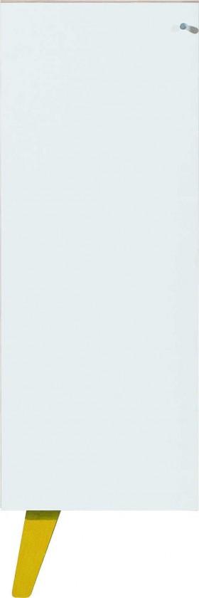 Dětská komoda SAJMON SJ 11 L/P (modřín/bílá lesk/žlutá)