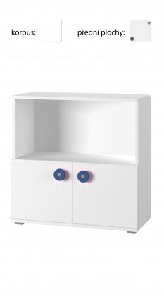 Dětská komoda Simba 11(korpus bílá/front bílá a modrá)