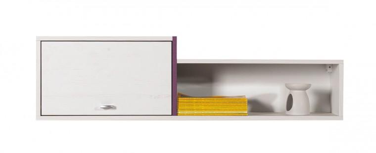 Dětská police Stone - Skříňka závěsná ST11 (bílá, fialová)