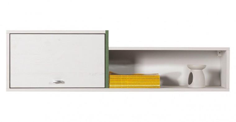 Dětská police Stone - Skříňka závěsná ST11 (bílá, zelená)