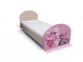 Dětská postel Junior - medvídek 16 (bříza/růžová)