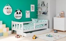 Dětská postel Tommy 80x160, borovice bílá, ÚP, bez matrace