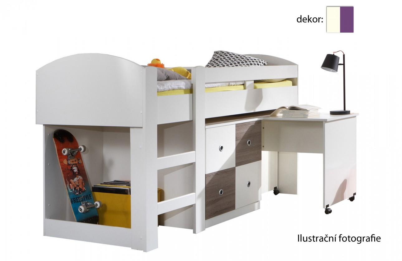 Dětská sestava Jette - 366238 (alpská bílá / ostružina)