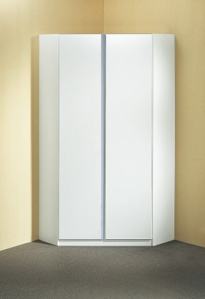 Dětská skříň Bibi - Skříň rohová (alpská bílá, modrá)