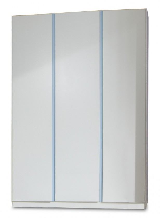 Dětská skříň Bibi - Skříň, třídveřová (alpská bílá, modrá)