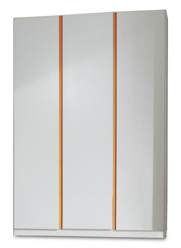 Dětská skříň Bibi - Skříň, třídveřová (alpská bílá, oranžová)