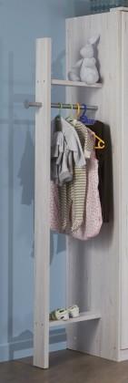 Dětská skříň Cariba - Šatník (bílá dub, černá láva)